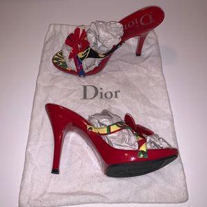 Authentic Dior Limited edition Rasta Mania Heels